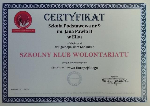 Szkoła Podstawowa Nr 9 Im Jana Pawła Ii W Ełku